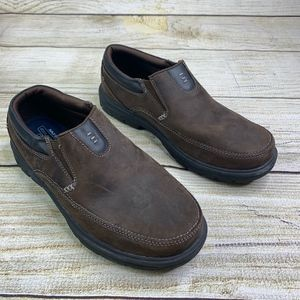 Skechers Regment Relaxed Fit Brown Suede Work Shoe